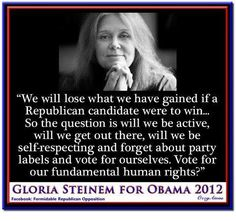 I'm voting for Obama for myself AND for our daughters and granddaughter.
