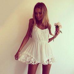 Vestido blanco!!