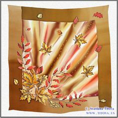 Hand painted silk shawl. Artist Svetlana Titova.Perfect gift for any occasion…