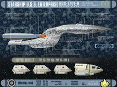 Starship Enterpise NCC 1701D - Free Star Trek Computer Desktop Wallpaper