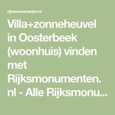 Villa+zonneheuvel in Oosterbeek (woonhuis) vinden met Rijksmonumenten.nl - Alle Rijksmonumenten van Nederland! Math Equations