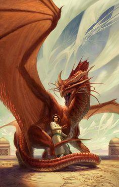 龙艺术 dragon art, digital illustration  Spellbound_Web.jpg (428×672) #dragons #toddlockwood