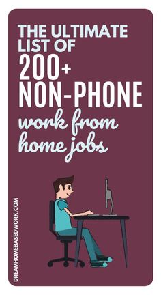 Seeking a non-phone work from home job? Here is the ULTIMATE list of the the 200 best non-phone jobs for freelancers, work at home moms, stay at home dads, teens, and more! Stay At Home Dad, Work From Home Moms, Need Cash Now, Home Based Work, Customer Service Jobs, Typing Jobs, Virtual Assistant Jobs, Work From Home Companies, Freelance Writing Jobs