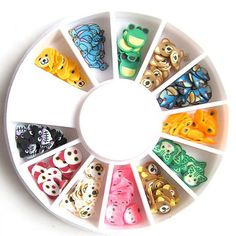Cute animals fimo nail art available at esthersnc.com