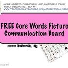 This is a FREE picture communication board with core vocabulary for students who use augmentative-alternative communication (AAC). Research shows t...
