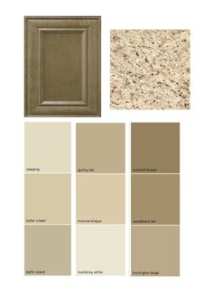 .cabinet color, wall colors, countertop