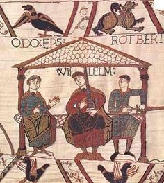 """Robert (""""Rotbert""""), Count of Mortain and Kyle's 32nd Great Grandfather (right) sits at the left hand of his half brother, William Duke of Normandy, MY 30th Grandfather. This means, yes... me and Kyle are related. But it's been 1000 years so that's ok, right?"""