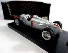 Auto Union Type D #6 1938 Brumm R109 Diecast 1:43 Race Car #Brumm #AutoUnionTypeD6