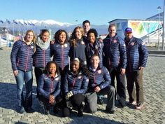 from Dave Wagner WCNC-TV @WagnerWCNC   Great being with @USBSF. 11 great athletes, one great mom @noellepikuspace #Sochi2014