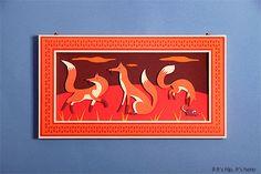 zim and zou foxes den window display hermes6 IIHIH