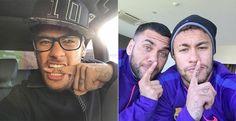 Neymar faz nova tatuagem no dedo