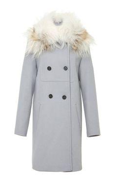Cheryl Felt Coat With Fox Fur Collar by Vilshenko for Preorder on Moda Operandi $2230