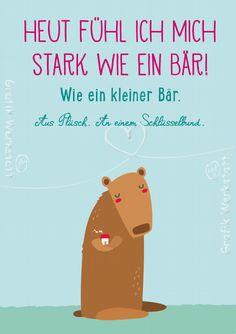 Heute fühl ich mich stark - Postkarten - Grafik Werkstatt Bielefeld