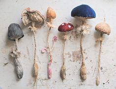 Mister Finch: Living in a Fairytale World by Mr Finch Mr Finch, Mister Finch, Sculpture Textile, Soft Sculpture, Mushroom Art, Mushroom Crafts, Mushroom Hunting, Paperclay, Arrows