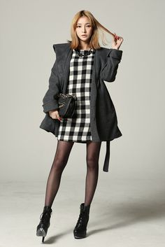 fd384322141 I d prefer a grid dress over gingham · Korean Fashion WinterCute Asian  FashionKorea ...
