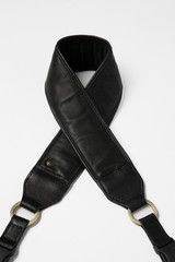 Venetian Black Lambskin Leather Camera Strap - Abie Straps