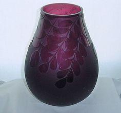 Rare Aubergine Colour Vintage Riihimaki Vase 1379 By Erkkitapio Siiroinen Riihimaki Glass