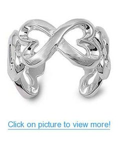 Sterling Silver Infinity Heart Ring (Size 5 - 9)