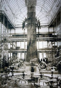 A Walk through the Nave of the Crystal Palace 1854 Crystal Palace, Hyde Park, Norway Forest, Palace London, Glass Structure, Victorian London, London History, Old London, London City