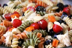 Try this delicious summer pasta salad recipe! It's always a huge hit at summer picnics and with the kids!