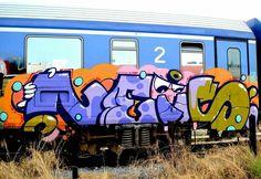 FRESH PANEL @ _______________________ #madstylers #graffiti #graff #style #colorful #trainbombing #stylewriting #summer #sprayart #graffitiart
