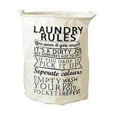 Hoomall Panier à Linge Sale en Tissu Rangement et Organisation Pliable pr Laundry Buanderie Blanc