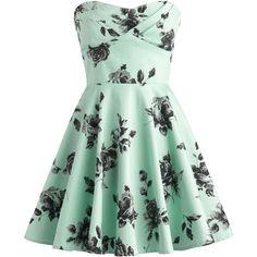 Vintage Rose Dress ($100) ❤ liked on Polyvore