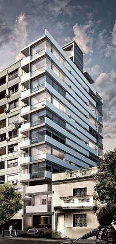 Edificio Obligado on Behance ~ Great pin! For Oahu architectural design visit http://ownerbuiltdesign.com #BigBuildings