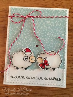 Scrappity-Doo-Da: warm winter wishes Scrapbook Cards, Scrapbook Layouts, Sheep Cards, Flower Birthday Cards, Diy And Crafts, Paper Crafts, Lawn Fawn Stamps, Christmas Challenge, Counting Sheep