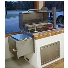 Texas Barbecues 500 Upright Brick In Barbeque Pit Smoker