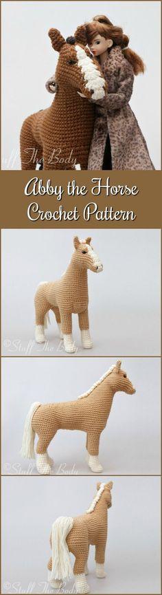 Abby The Horse Amigurumi Pattern, Pony Crochet Pattern, home decor, plushie toy, birthday present, baby shower, nursery dcor #etsy #ad #amigurumipattern #amigurumi #pdf