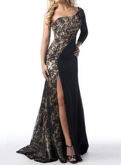 Lace Color Block Sleeveless Maxi Vintage Dresses (1018622) @ floryday.com