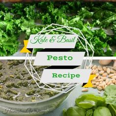 Kale and Basil Pesto #BasilPesto, #Pesto, #Recipes #HomestyleCooking