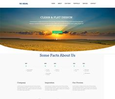 Aqual Singlepage Flat Responsive Web Template. http://w3layouts.com/preview