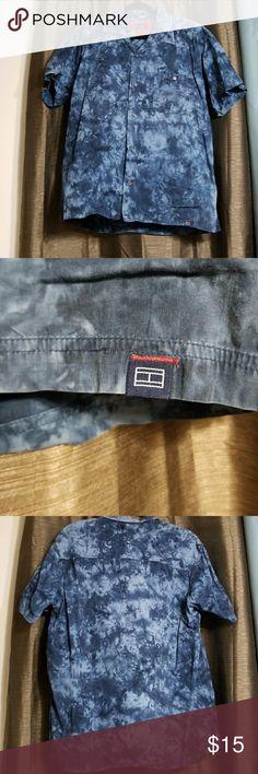 Tommy jeans blue shirt Blue button up shirt tommy jeans Shirts Casual Button Down Shirts