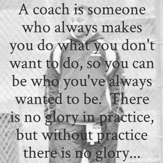 It's about coaching, but fitting for a father role!