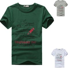 * With high quality and popularity  * Extremely fashion, and eye-catching,  * Soft and comfortable to wear and touch  * Material: Cotton blend  * Color:   white, gray, green   * Size:  M ,L, XL, 2XL,    Note: please leave us message with the size you want