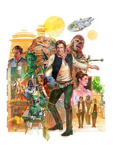 Star Wars: The Saga of Han Solo Original Print by Mark McHaley