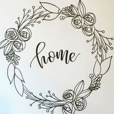 Coronas, - Lilly is Love Hand Embroidery Patterns, Vintage Embroidery, Embroidery Designs, Crewel Embroidery, Flower Embroidery, Machine Embroidery, Wreath Drawing, Chalkboard Art, Bullet Journal Inspiration