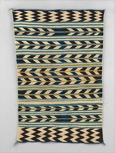 Navajo Saddle Blanket Third Phase (Until ~ / Diamonds / Half Diamonds Geography:United States, Arizona or New Mexico Culture:Navajo Medium:Wool Dimensions:H. 33 in. Navajo Weaving, Navajo Rugs, Hand Weaving, Motifs Textiles, Arizona, Saddle Blanket, Native American Art, Pattern Making, Woven Rug