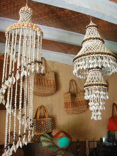 Chandelier made of Seashells