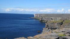 Cliffs of the Aran Islands in Ireland.