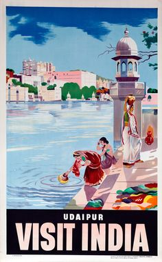 The Travel Tester vintage travel poster collection. It's time to get nostalgic with this week's retro showcase: Vintage Travel Posters India. Pub Vintage, Vintage India, Photo Vintage, Retro Poster, Poster S, India Poster, Udaipur India, Tourism Poster, Travel Ads