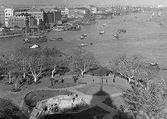old shanghai scene wangpoo, huangpu, and bund of shanghai  - photo by Walter Arrufat (1920-2007)