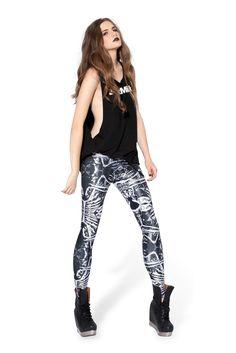Bone Machine Leggings › Black Milk Clothing