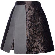 Antonio Berardi Darkest Green Mini Skirt ($1,260) ❤ liked on Polyvore
