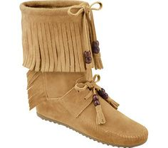 Minnetonka Women's Woodstock Boot Moccasin $79.95. My most favorite item in my closet