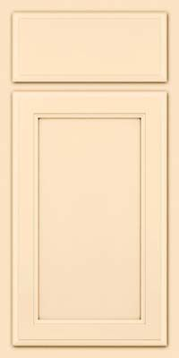 Door Detail - Square Recessed Panel - Veneer (NG) Maple in Biscotti w/Cocoa Glaze - KraftMaid Cabinetry
