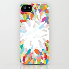 fizzy feathers iPhone Case by Sharon Turner (other products available)