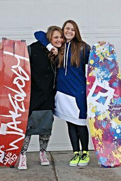 Happi Hoodz preps for wakeboard season. . hoodie . wakeboard . boating . girls . fashion .